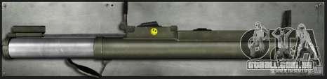 M72 Lei-bazuca para GTA San Andreas segunda tela