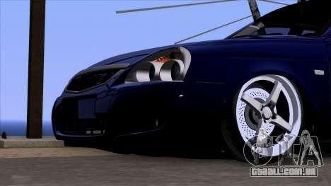 VAZ 2170 de Lada Priora para GTA San Andreas vista traseira
