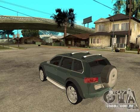 Volkswagen Touareg V10TDI 4x4 para GTA San Andreas esquerda vista