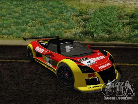 Gumpert Apollo S 2012 para GTA San Andreas vista inferior