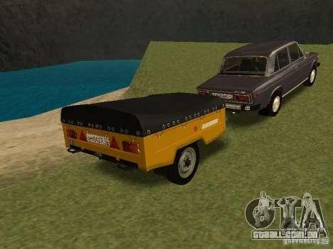 MAZ 8114 bezerro para GTA San Andreas traseira esquerda vista