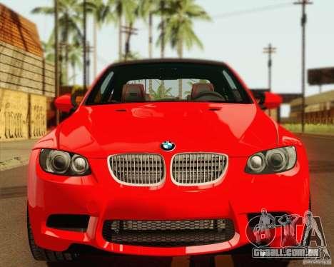 BMW M3 E92 v2.0 para GTA San Andreas vista traseira