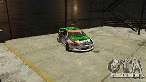 Mitsubishi Lancer Evolution IX RallyCross para GTA 4 vista direita