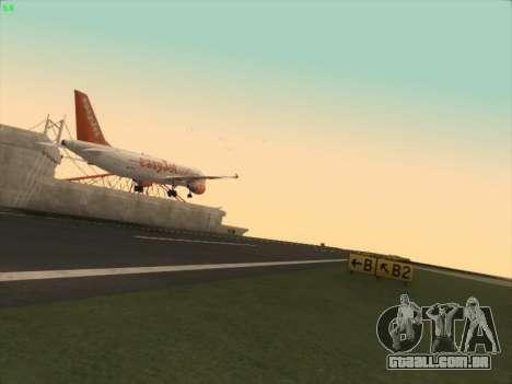 Airbus A320-214 EasyJet para GTA San Andreas vista traseira