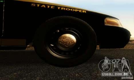 Ford Crown Victoria Maryland Police para GTA San Andreas vista direita