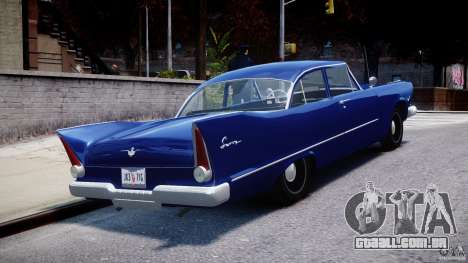 Plymouth Savoy Club Sedan 1957 para GTA 4 vista lateral