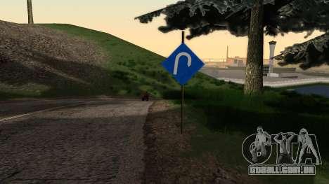 Novos sinais de trânsito para GTA San Andreas segunda tela