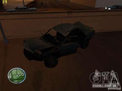 Carros quebrados na Grove Street para GTA San Andreas sétima tela