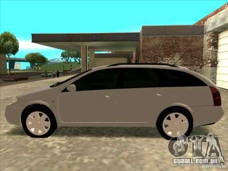 Nissan Primera Wagon para GTA San Andreas traseira esquerda vista