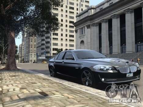 BMW 550i F10 para GTA 4 vista lateral