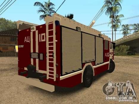 KAMAZ 43253 Rozenbauer para GTA San Andreas traseira esquerda vista