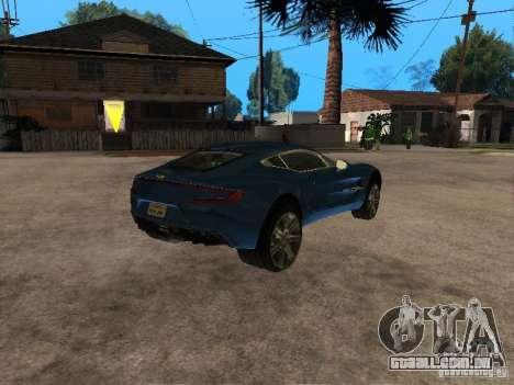 Aston Martin One77 para GTA San Andreas vista direita