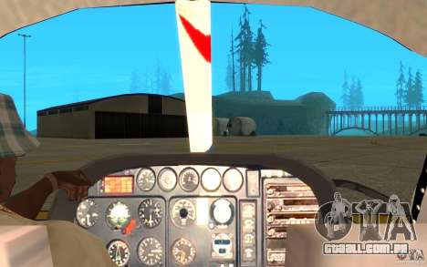 AS-350 TV para GTA San Andreas vista traseira