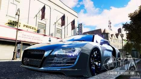Audi R8 Spider 2011 para GTA 4 vista superior