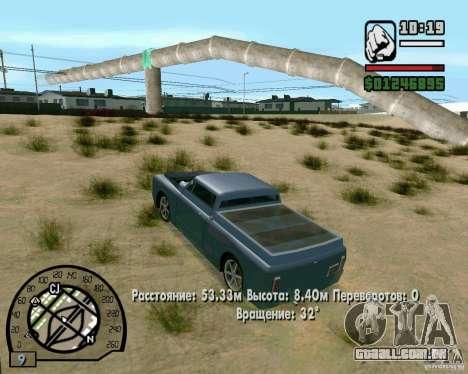 Saltos na auto-estrada em Las Venturase para GTA San Andreas sexta tela