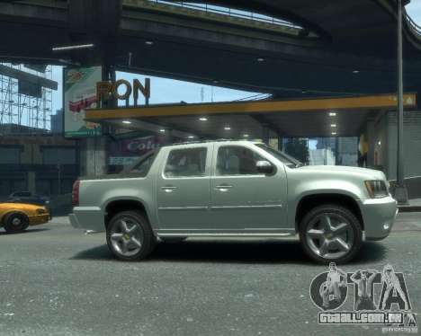 Chevrolet Avalanche Version Pack 1.0 para GTA 4 vista direita