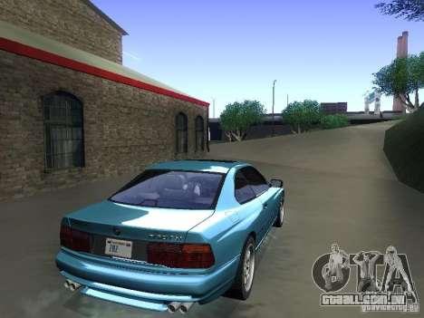 BMW 850CSi 1995 para GTA San Andreas esquerda vista