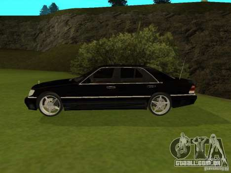 Mercedes-Benz 600 W140 para GTA San Andreas esquerda vista
