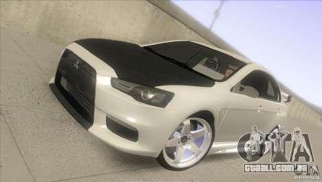 Mitsubishi Lancer Evo IX DIM para GTA San Andreas