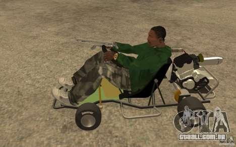 Hayabusa Kart para GTA San Andreas esquerda vista