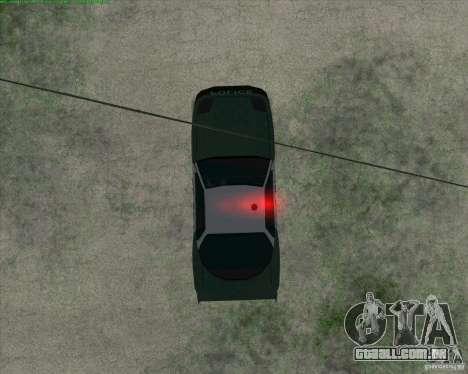 Supergt - Police S para GTA San Andreas vista traseira