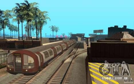London Metro para GTA San Andreas esquerda vista