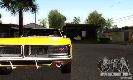 Dodge Charger RT 1969 para GTA San Andreas vista interior