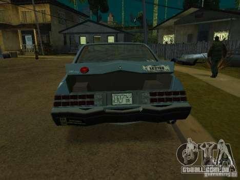 O táxi de romanos de GTA4 para GTA San Andreas esquerda vista