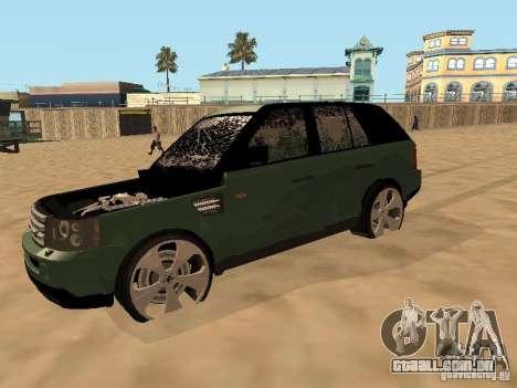 Land Rover Range Rover Sport para GTA San Andreas vista interior