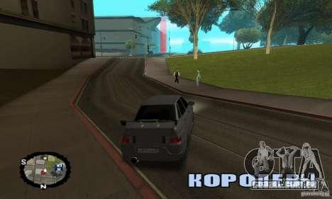 Corrida de rua para GTA San Andreas por diante tela