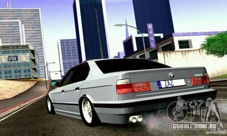 BMW E34 525i para GTA San Andreas esquerda vista