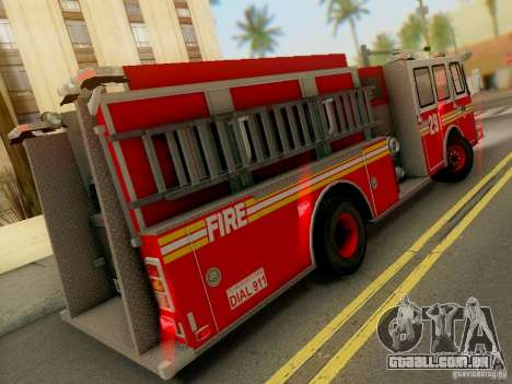 E-One FDNY Ladder 291 para GTA San Andreas vista direita