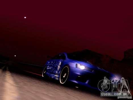 Mitsubishi Lancer EVO X Juiced2 HIN para GTA San Andreas vista superior