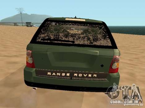 Land Rover Range Rover Sport para GTA San Andreas vista superior