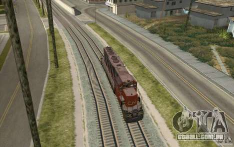 CN SD40 ZEBRA STRIPES para GTA San Andreas vista direita