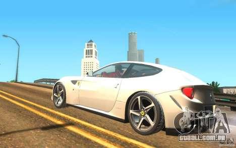 Ferrari FF para GTA San Andreas esquerda vista