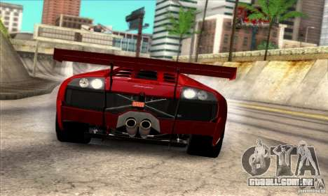 Lamborghini Murcielago R-SV GT1 para GTA San Andreas traseira esquerda vista