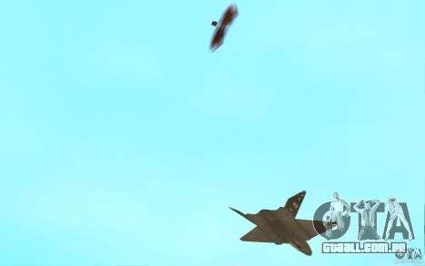 YF-23 para GTA San Andreas vista interior