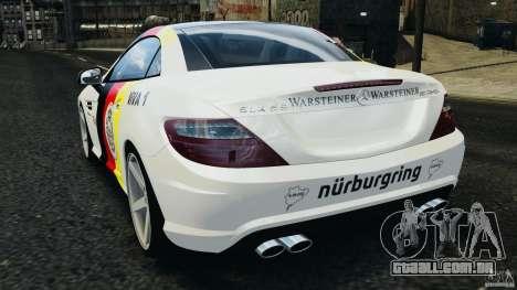 Mercedes-Benz SLK 2012 v1.0 [RIV] para GTA 4 traseira esquerda vista