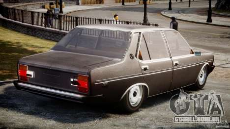 Fiat 131 Mirafiori 1974 para GTA 4 traseira esquerda vista