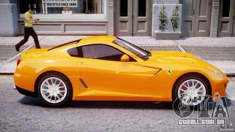 Ferrari 599 GTB Fiorano para GTA 4 vista inferior