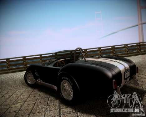 Shelby Cobra 427 Full Tunable para GTA San Andreas esquerda vista