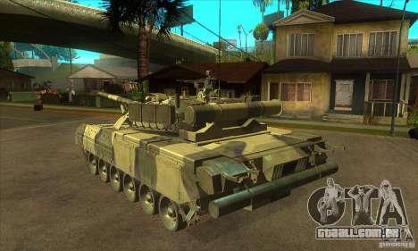T-80U MBT para GTA San Andreas traseira esquerda vista