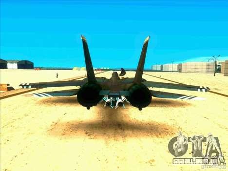 F-14 Tomcat Schnee para GTA San Andreas vista direita
