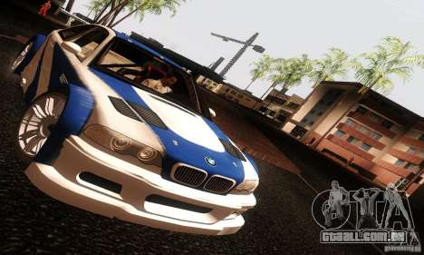 BMW M3 GTR v2.0 para GTA San Andreas vista direita
