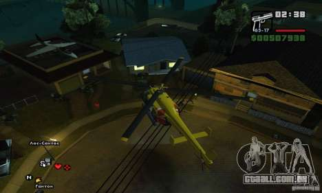 Helitour Maverick de GTA 4 para GTA San Andreas vista interior