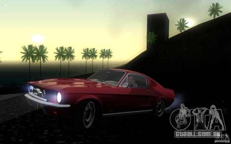 Ford Mustang 1967 American tuning para GTA San Andreas esquerda vista