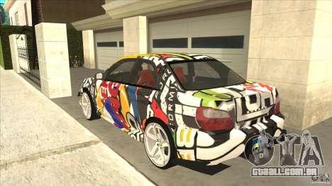 Subaru Impreza 2005 Mission Edition para GTA San Andreas traseira esquerda vista