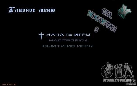 O menu do jogo GTA Nogaystan para GTA San Andreas segunda tela