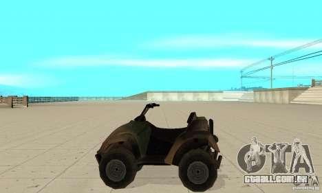 ATV do TimeShift para GTA San Andreas esquerda vista